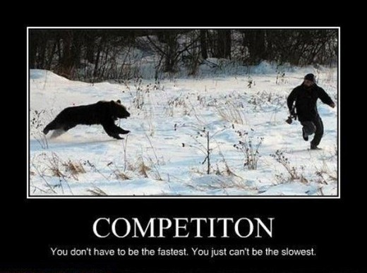 Don't sit around. Don't lag behind or you'll be eaten by the competition