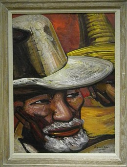 Father of the First Victim of the Cananea Strike (1961) by David Alfaro Siqueiros, founder of Muralism. Art Collection of the richest man in the world: Carlos Slim Helu. Museo Soumaya, Mexico City.