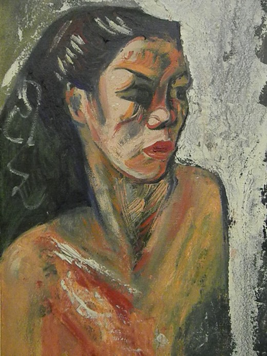 Rosana (c1944) by José Clemente Orozco, founder of Muralism. Art Collection of the richest man in the world: Carlos Slim Helu. Museo Soumaya, Mexico City.