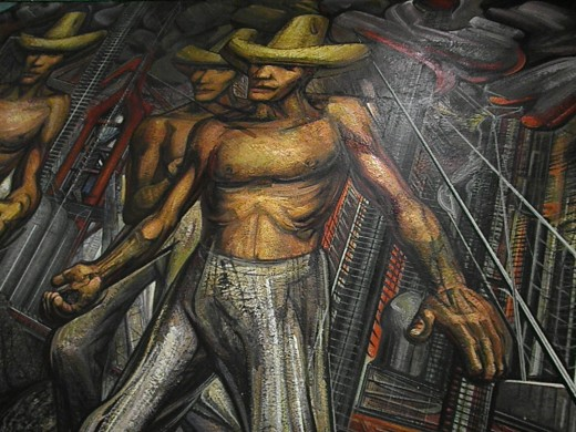 Rivera orozco david alfaro siqueiros the three great for Mural siqueiros