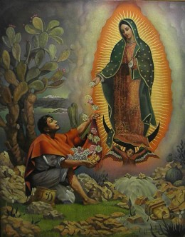 Miracle of Tepeyac (c1947) by Jorge González Camarena. Muralist's Art Collection of the richest man in the world: Carlos Slim Helu. Museo Soumaya, Mexico City.