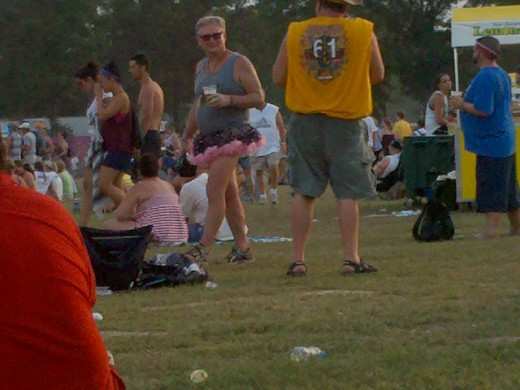 """You never know what you are going to see at Bonnaroo. Here my favorite """"Rooer"""" sporting a tutu!"""