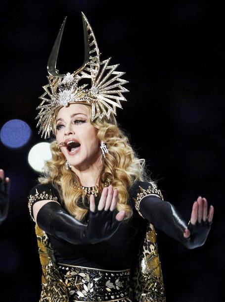 Madonna at Super Bowl 2012 half-time show.