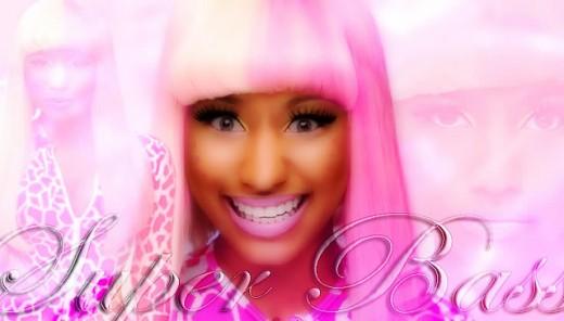 """Nicki Minaj posing as """"Harajuku Barbie."""""""