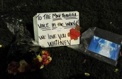 Thoughtful Sentiments for Whitney Houston on Signs and Billboards