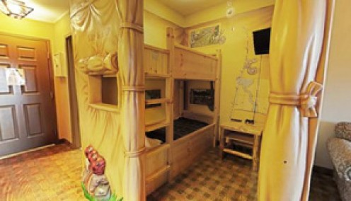 The KidCamp Suite at Great Wolf Lodge