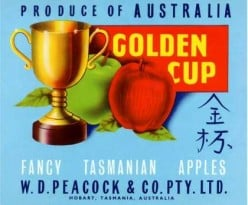 free cross stitch pattern Golden Cup Apples