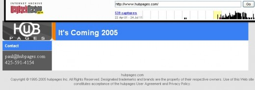 Hubpages 24/11/2005