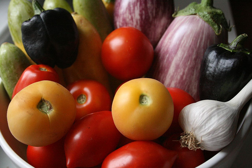 Proceeds of an organic vegetable garden. Photo by thebittenword.com.