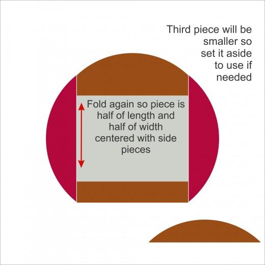 step 4 - fold paper in half again