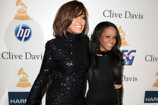 Whitney Houston with daughter Bobbie Christina