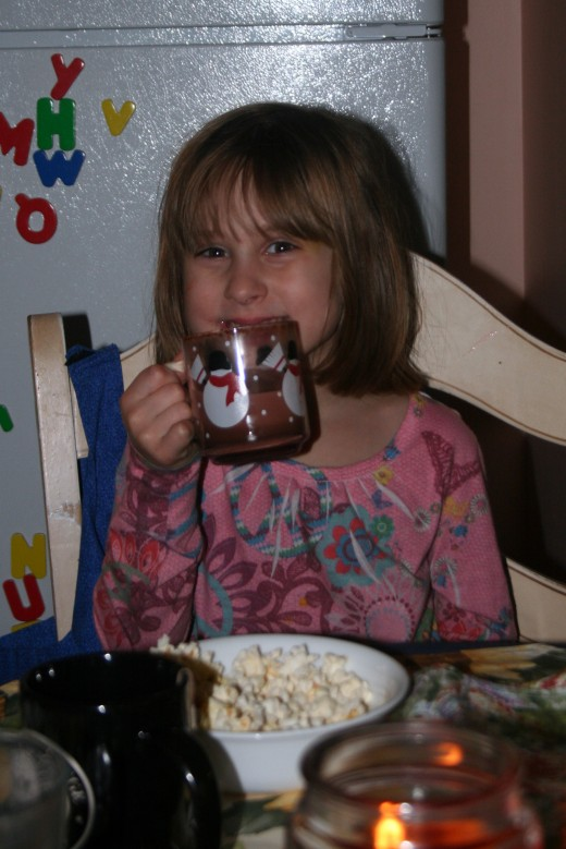 What's not to love about popcorn and cocoa?