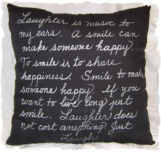Lots of people snack while watching TV. Relaxing with a resolution pillow may comfort your cravings a bit. Embroider a pillow or use a fabric pen to write your goals on a pillow you make or buy.