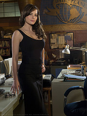 THE VIVACIOUS LOIS LANE CAPTURED IN ONE OF HER FASHION SHOTS NOW THAT SHE IS NO LONGER A REPORTER FOR THE DAILY PLANET.