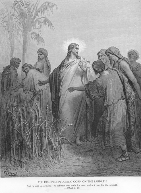 The Disciples Plucking Corn on the Sabbath, Gustave Dore (1832-1883)