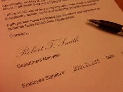 Preparing an Employee Written Warning Letter