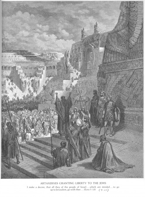 Artaxerxes Granting Liberty to the Jews, Gustave Dore (1832-1883)