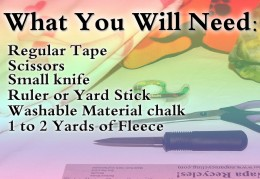 The needed materials and supplies for making a no sew fleece blanket are already in your house!