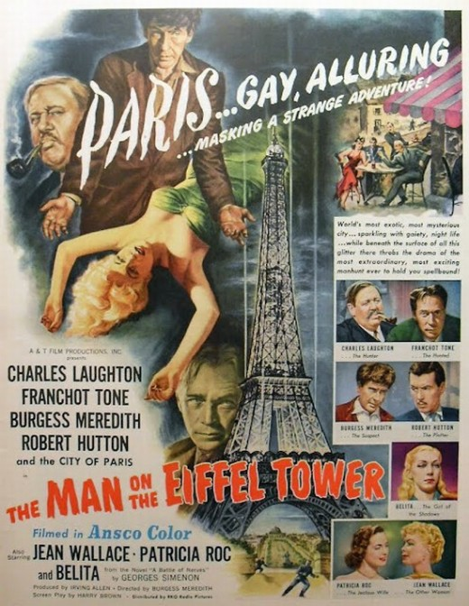 Man on the Eiffel Tower - poster