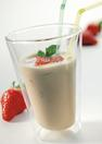 coffe shake with strawberries