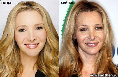Lisa Kudrow in early years and recent years