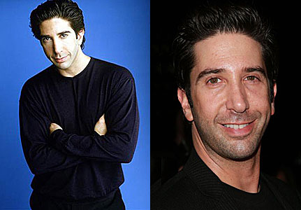 Dave Schwimmer in early years and recent years