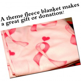 Pink ribbon blankets are always a perfect choice for any person who has been toughed directly or indirectly by cancer.