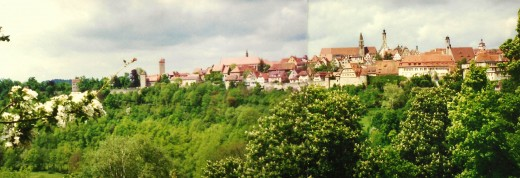 View of Rothenburg from a distance