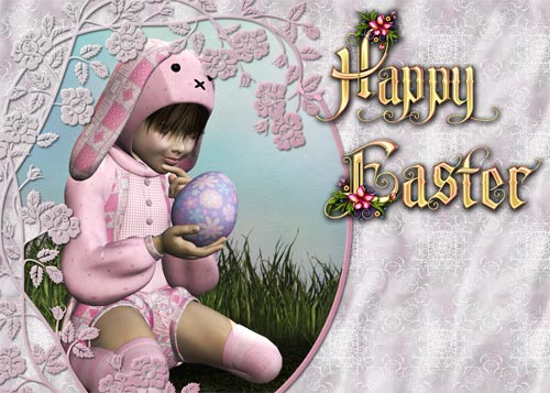 Make an Easter Card 2 - Frame with Tiled Background