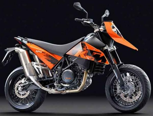 KTM 690. This is what happens when a motorcycle is mated with an anteater.