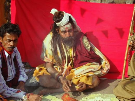 A sadhu in the fair