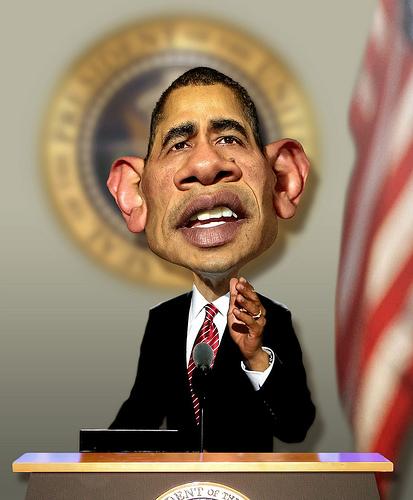 Barack Obama Portrait (not Satire) from rwpike Source: flickr.com