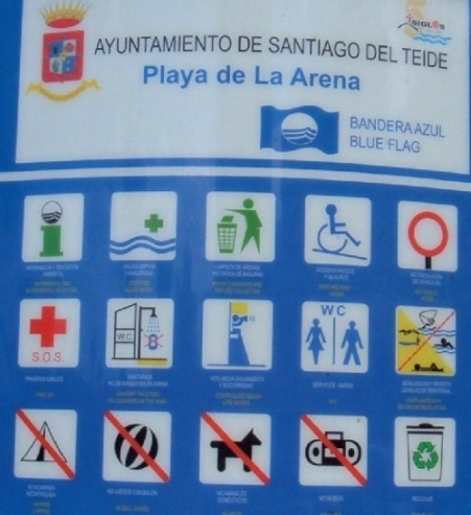 Blue Flag status and facilities for Playa de la Arena. Photo by Steve Andrews