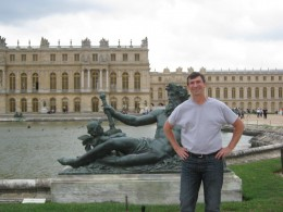 """In the """"back yard"""" at Versailles"""