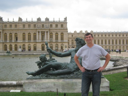 "In the ""back yard"" at Versailles"