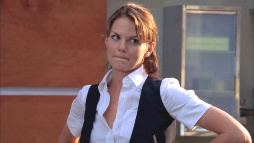 Allison Cameron looking over to Chase