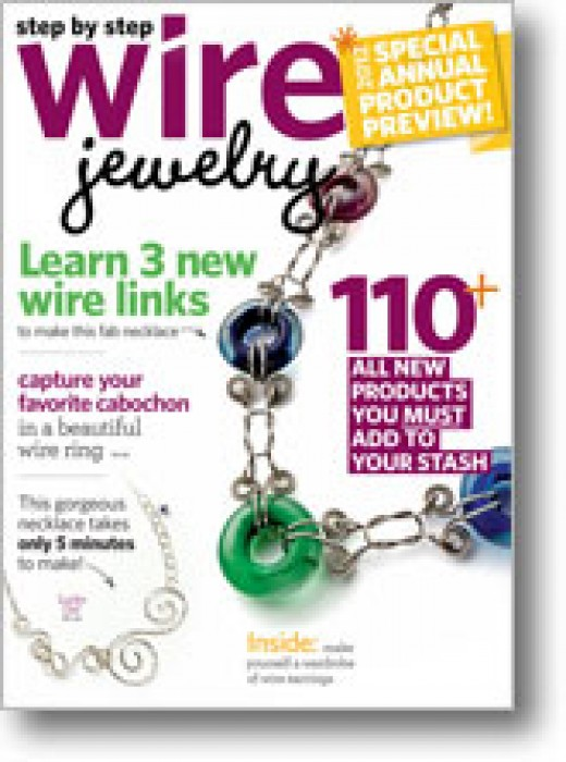 Step by Step  Wire Jewelry Magazine December 2011 - January 2012 Vol 7 No 6.