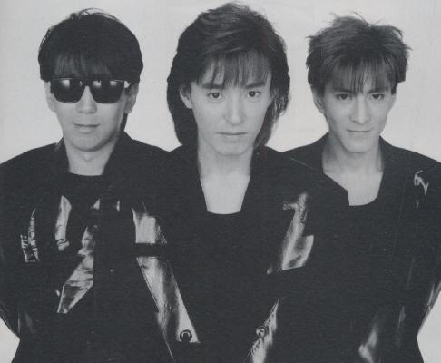 TM NETWORK. L-R: Naoto Kine, Takashi Utsunomiya, Tetsuya Komuro