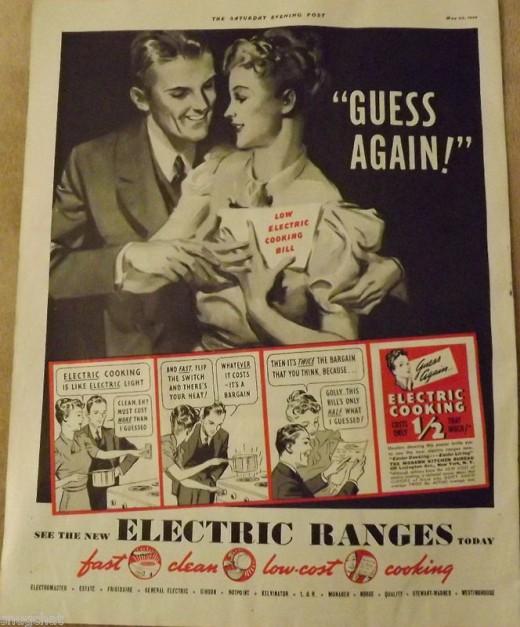 1939 Electric Range Ad