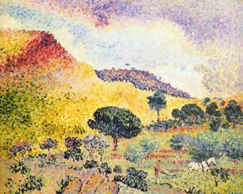 """""""La Chaîne des Maures"""" (Place name), Henri-Edmond Cross, 1907"""