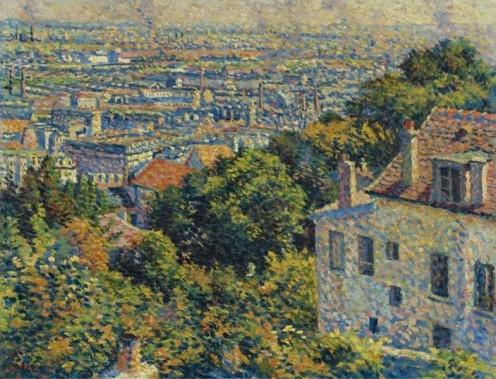 """""""Montmartre, de la Rue Cortot, Vue Vers Saint-Denis"""" (""""Montmartre, Cortot Street, Looking At Saint-Denis""""), Maximilien Luce, 1900"""