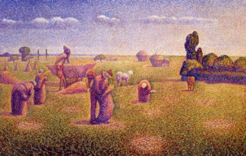"""""""Les Pêcheurs"""" (""""The Harvesters""""), Charles Angrand, 1892"""