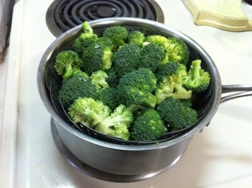 Steam broccoli florets