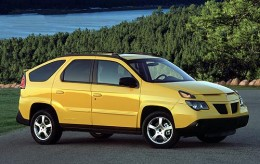 Honourable Mention By Special Request: The Pontiac Aztek. Proof that an SUV can be designed on an Etch-A-Sketch.