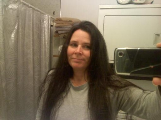 me with black hair