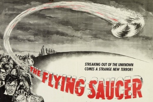 Promotional poster for the 1950 film 'The Flying Saucer.' CREDIT: Colonial Productions