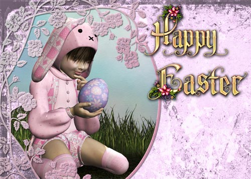 Make an Easter Card 2 - Textured Background