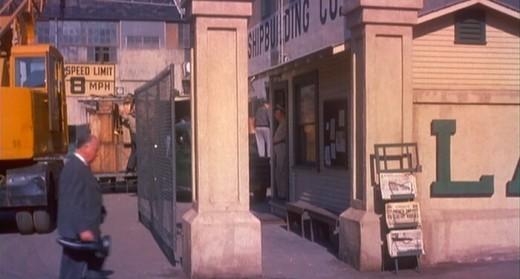 Vertigo (1958) Hitchcock's cameo