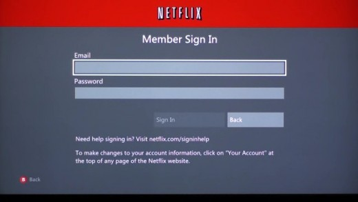 """Enter the email and password associated with your Netflix account at the Member Sign In screen, then select """"Sign In."""""""