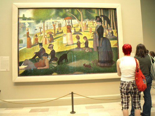 """""""A Sunday on La Grande Jatte"""" (To Show Scale), Georges Seurat"""